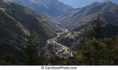 Mountain resort time lapse