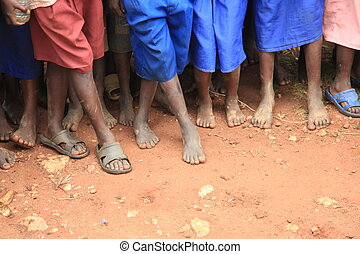 African Childrens Feet - The Feet of Children Living in...