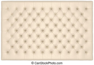 Beige Luxury buttoned leather mattress useful as background....