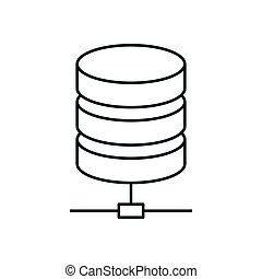 Data storage line icon. Server symbol