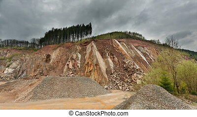 Stone Pit Timelapse, Ardennes, Belgium - Timelapse sequence...
