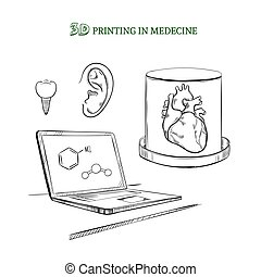 Hand Drawn Medical Technology Innovations Concept