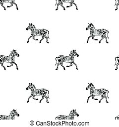 Drawing African Wildlife Seamless Pattern