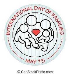 International Day of Families. May 15. Family icon.