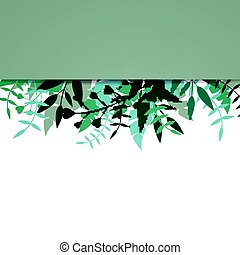 Vector Floral Background with Abstract Blue Plants