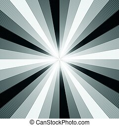 Black and White Light Ray Abstract Background Vector...