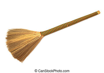 new broom on a white background