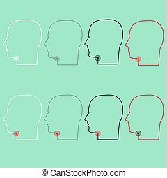 Head with sore throat icon. - Head with sore throat icon...