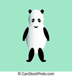 The panda is on its hind legs. - The panda is on its hind...