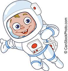 jovem, astronauta