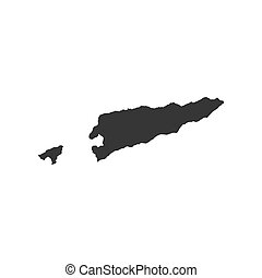 East Timor map on the white background. Vector illustration