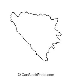 Bosnia and Herzegovina map on the white background. Vector...