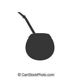 Calabash silhouette illustration on the white background....