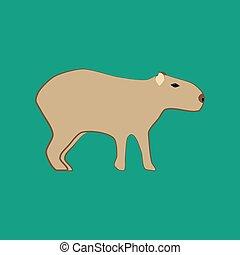 capivara, Ilustração,  animal