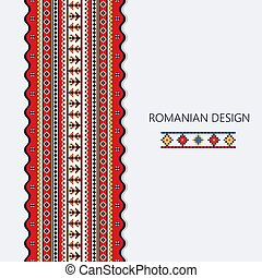 Romanian vertical border 2