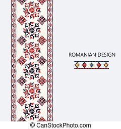 Romanian vertical border 3