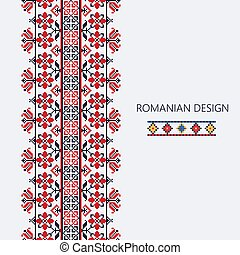 Romanian vertical border 5