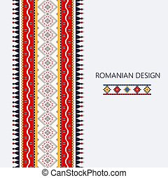 Romanian vertical border