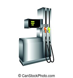 Gas station. Vector 3d illustration. - Gas station. Vector...