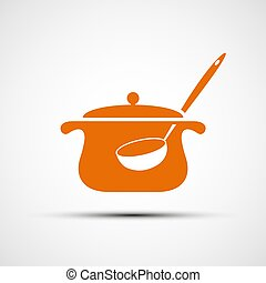 Logo pan with a ladle.
