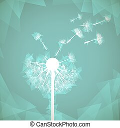 Abstract natural background. Glowing dandelion. Stock vector...
