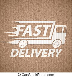 Delivery of cargo and Fast shipping. Stock vector...