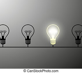 incandescent lamps. Stock illustration. - Electrical circuit...