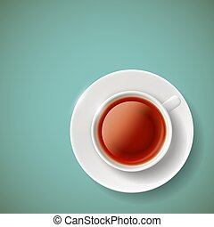 red tea. Stock illustration. - Cup of red tea. Stock vector...
