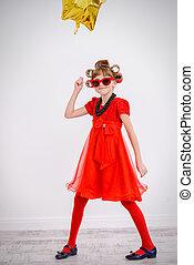 little fashionable girl - Portrait of a pretty little girl...