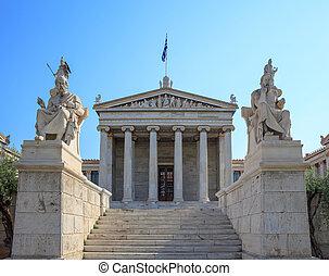 fachada, Academia,  -, atenas, grecia