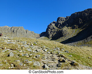 Fells - The landscape of the Cumbrian fells, UK