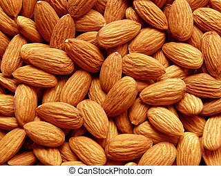 almond - whole almond grains background