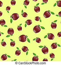 Red Apple Seamless Random Pattern