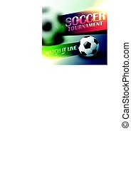 soccer tournament flyer poster design template