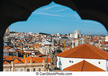View of the old Porto downtown from Clerigos Tower....