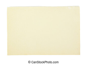 paper  - old note paper isolated on white background