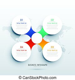 clean four steps infographic template design for business...