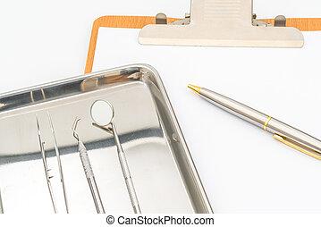 Felszerelés, Fogászati, eszközök
