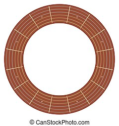 round guitar fretboard vector illustration - isolated round...