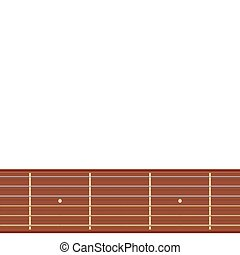 straight guitar fretboard vector illustration - isolated...