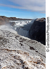 Gullfoss waterfall in southwest Iceland. - Gullfoss...