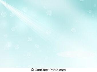 Light blue background - light blue background with rays of...