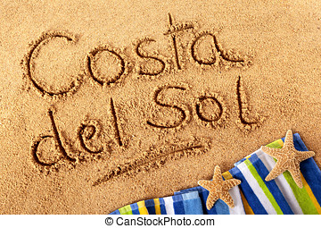 Costa del Sol sand writing