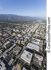 Pasadena California Afternoon Aerial View