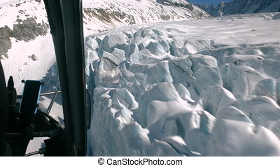 snow mountain aerial view. landscape panorama. alps...