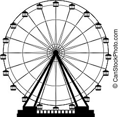 Ferris wheel icon - ferris wheel fair entertainment round...