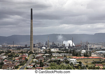 Wollongong, New South Wales, Australia. Industrial...