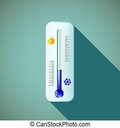 thermometer. Stock illustration. - Mercury thermometer in...