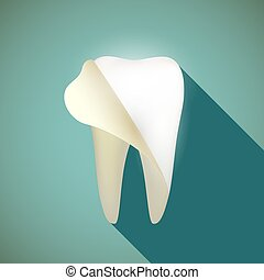 human teeth. Stock illustration. - Whitening human teeth in...