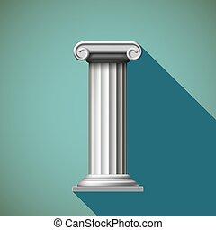 Antique column. Stock illustration. - Antique column in...
